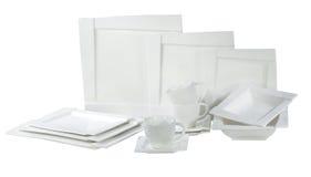 Placas y platos Imágenes de archivo libres de regalías