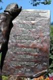 Placca bronzea dei diritti delle donne Fotografie Stock