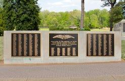 Placca commemorativa dei veterani di Shelby County World War Two fotografie stock