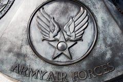 Placca commemorativa delle aeronautiche dell'esercito americano Immagine Stock Libera da Diritti