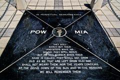 Placca commemorativa di POW-MIA immagini stock