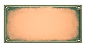 Placca d'ottone illustrazione di stock