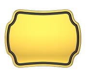 Placca dell'oro royalty illustrazione gratis