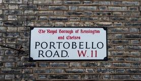 Placca della strada del ` s di Portobello Fotografie Stock Libere da Diritti
