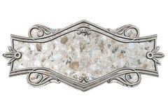 Placca di marmo d'annata isolata su fondo bianco illustrazione vettoriale