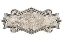Placca di marmo d'annata isolata su fondo bianco royalty illustrazione gratis