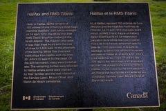 Placca di RMS Titanic Immagini Stock