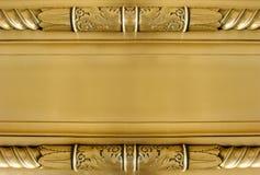 Placca neoclassica dell'oro Fotografie Stock Libere da Diritti