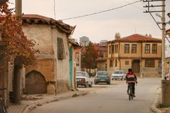 Old city in Afyonkarahisar. This place's name  is Bolvodin. Many buildings are too old. Almost 100 years Stock Images