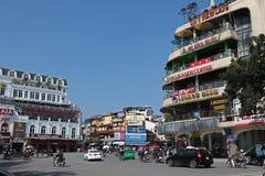 Place à côté de lac Hoan Kiem Images libres de droits