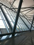 Airport structure with iron and glass royalty free stock photos