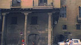 Place archivistique de cathédrale de Tarragone banque de vidéos