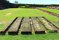 Place for artillery cores. Place for artillery engines, Galle Fort, Sri Lanka Royalty Free Stock Photography