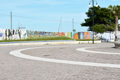 PLACE AVEC L'ART SUR LES MURS Images libres de droits