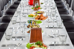 Place on a banquet table. For a welcome guest Stock Photography