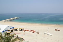 Place for a barbecue on the beach. Fujeirah,  United Arab Emirates Royalty Free Stock Photos