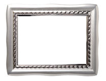 Place For Beauty. Chrome decorative frame isolated with clipping path over white background Stock Photography