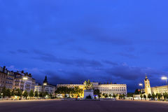 Place Bellecour in Lyon in France Royalty Free Stock Photos