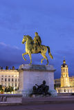 Place Bellecour in Lyon in France Stock Photo