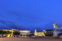 Place Bellecour in Lyon in France Stock Images
