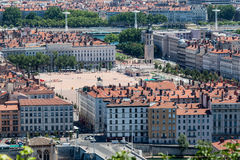 Place Bellecour Lyon France. Place Bellecour with its historical buildings in Lyon, France Stock Images