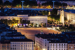 Place Bellecour in Lyon Royalty Free Stock Images