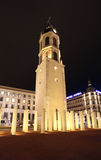 Place Bellecour by night. Lyon. Place Bellecour in Lyon by night. France. February, 2015 Royalty Free Stock Image