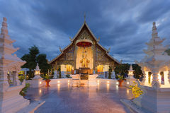 Place a beloved old Buddhist Lanna.Wat Phra-singha temple great Royalty Free Stock Photo