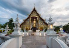 Place a beloved old Buddhist Lanna.Wat Phra-singha temple great Stock Image