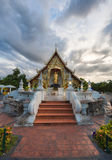 Place a beloved old Buddhist Lanna.Wat Phra-singha temple great Stock Photos