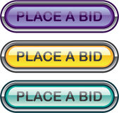Place a Bid button web vector Royalty Free Stock Photography