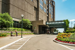 Place Bonaventure entrance. Place Bonaventure is an office, exhibition and hotel complex in Downtown Montreal, Quebec, Canada, adjacent to the city's Central Royalty Free Stock Photography
