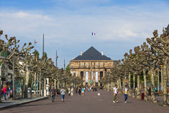 Place Broglie, one of the main squares of the city of Strasbourg Royalty Free Stock Images