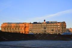 Place célèbre de Moscou Manezh Manege Paysage urbain de place de Manezhnaya au centre de la ville de Moscou, Russ images stock