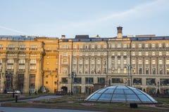 Place célèbre de Moscou Manezh Manege Paysage urbain de place de Manezhnaya au centre de la ville de Moscou, Russ images libres de droits