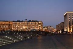 Place célèbre de Moscou Manezh Manege Paysage urbain de place de Manezhnaya au centre de la ville de Moscou, Russie photos libres de droits