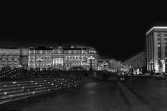 Place célèbre de Moscou Manezh Manege Paysage urbain de place de Manezhnaya au centre de la ville de Moscou, Russie images libres de droits