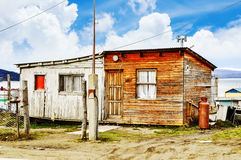 Place Call Home. Beautiful Cabin Close To The Port Of Argentina Stock Photos
