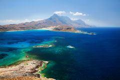 Lagoon Balos, Gramvousa, Crete, Greece. The place is called Bay Beach. Bay this remarkable because it is a place of merge of three seas - the Cretan and Royalty Free Stock Images