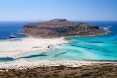 Lagoon Balos, Gramvousa, Crete, Greece Stock Image