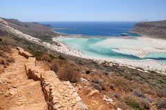 Balos lagoon of Crete, Greece Royalty Free Stock Image