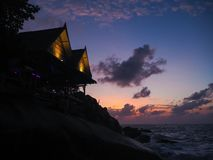 A place called Eden Garden at sunrise on Koh Phangan. stock image