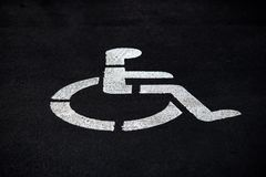 Places wheelchair disabled parking Royalty Free Stock Images