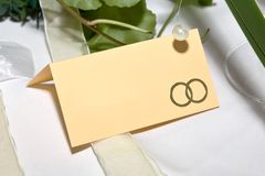 Place card Royalty Free Stock Photos