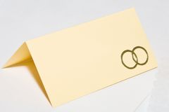 Place card Stock Image