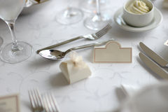 Place card on the festive table Stock Image