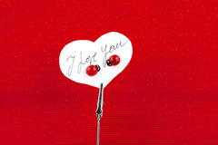 Place Card with Love message Royalty Free Stock Images