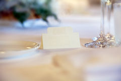 Place card on a table Royalty Free Stock Images