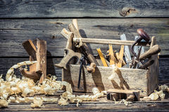 Place of carpenters work Stock Image