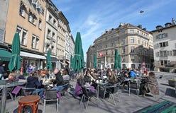 Place ce bourg de Four, Geneva Stock Photo